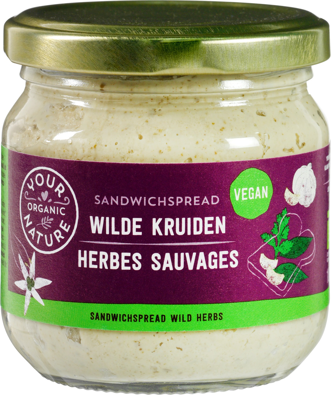 Biologische Your Organic Nature Sandwichspread wilde kruiden 180 gr