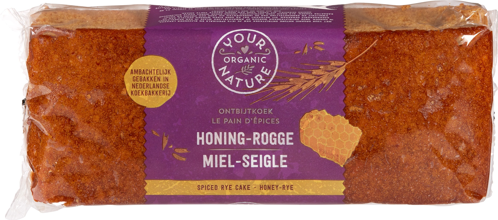 Biologische Your Organic Nature Ontbijtkoek honing-rogge 400 gr