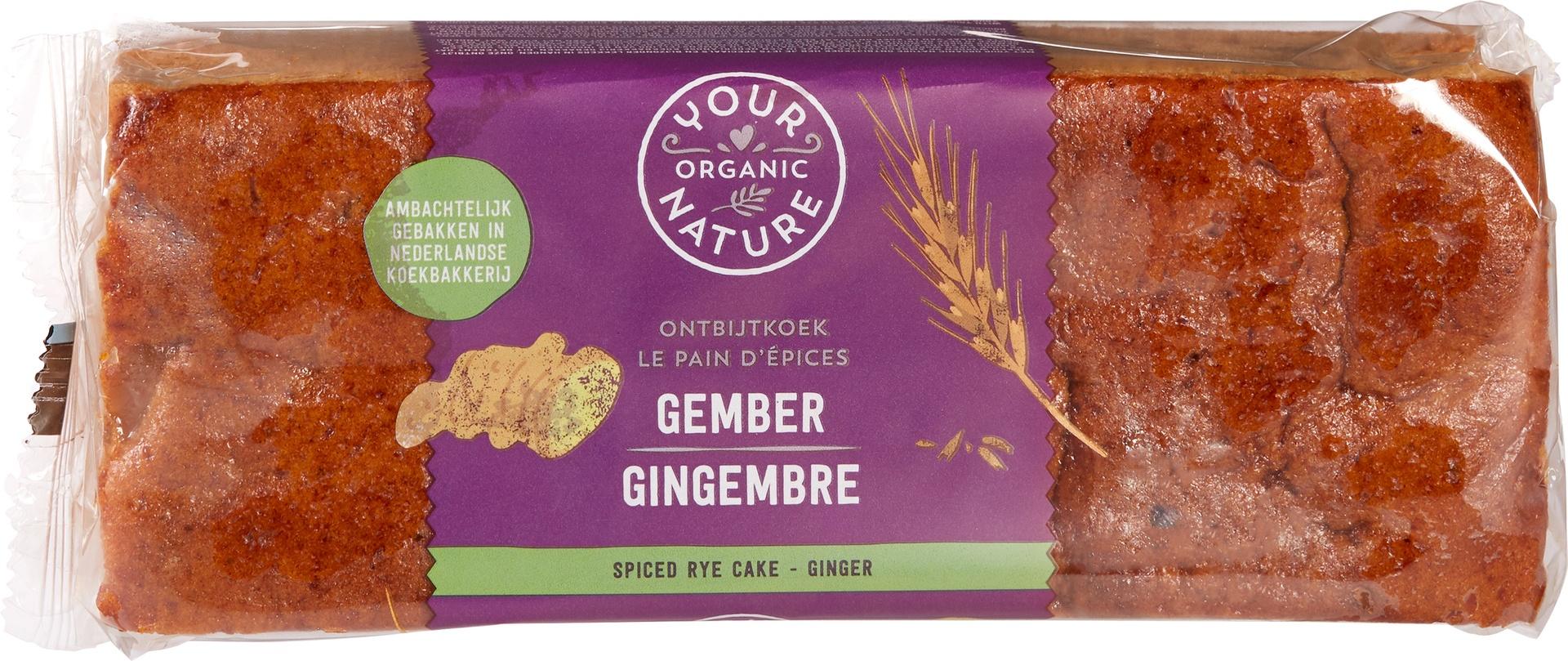 Biologische Your Organic Nature Ontbijtkoek gember 400 gr