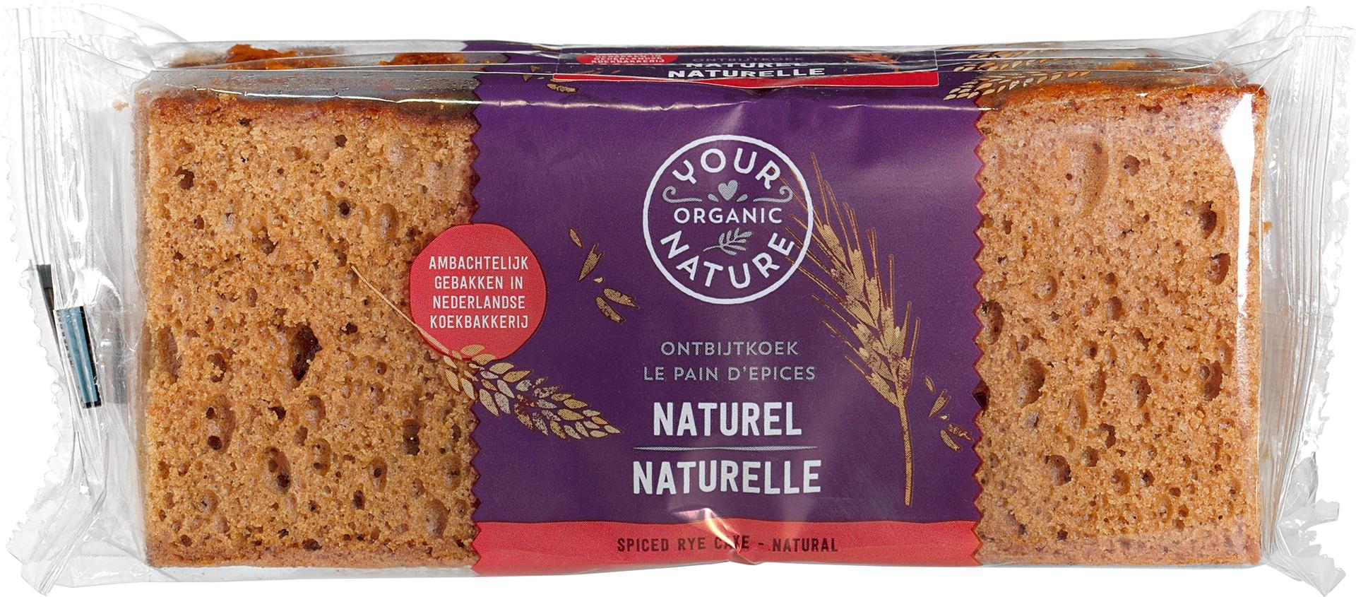 Biologische Your Organic Nature Ontbijtkoek naturel 275 gr