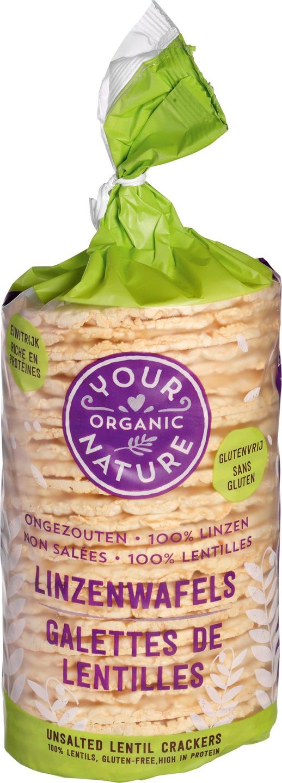 Biologische Your Organic Nature Linzenwafels ongezouten 100 gr