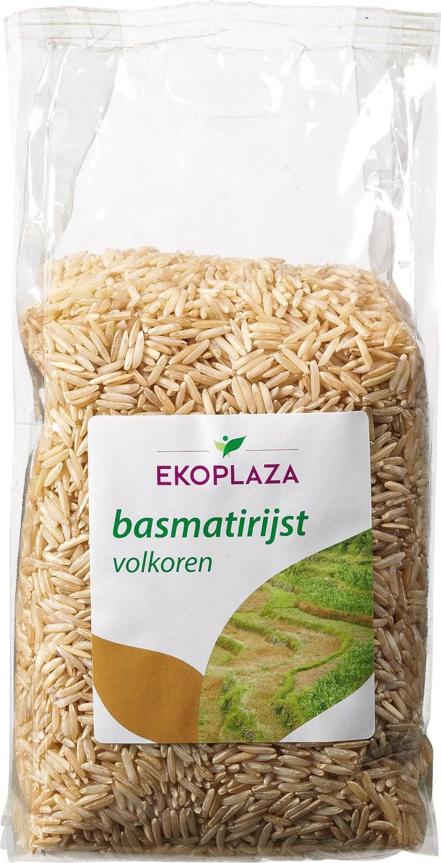 Biologische Ekoplaza Basmati rijst volkoren 500 gr