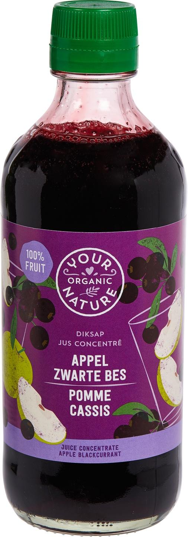 Biologische Your Organic Nature Diksap appel zwarte bes 400 ml