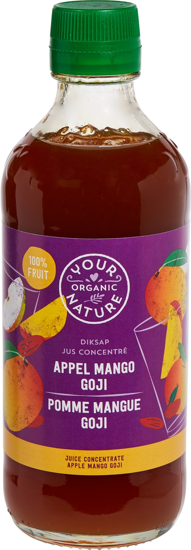 Biologische Your Organic Nature Diksap appel mango goji 400 ml