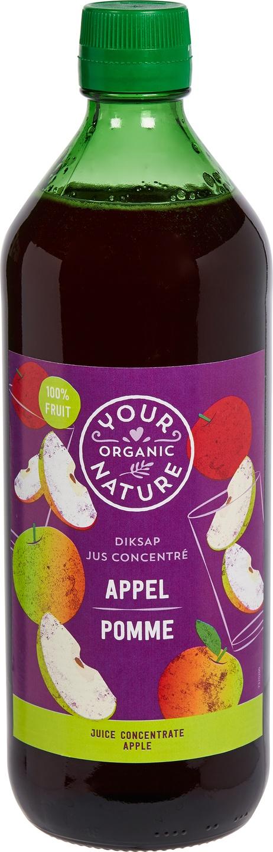 Biologische Your Organic Nature Diksap appel 750 ml