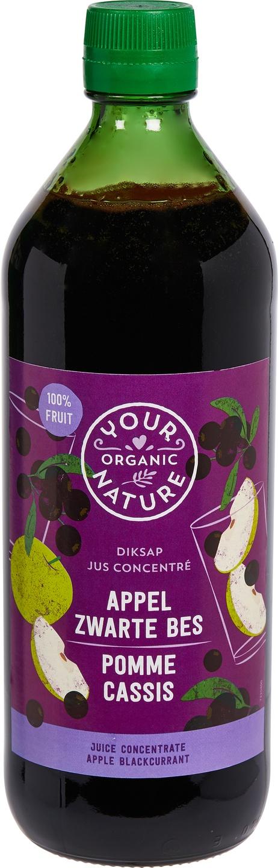 Biologische Your Organic Nature Diksap appel zwarte bes 750 ml