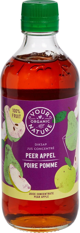 Biologische Your Organic Nature Diksap peer appel 400 ml