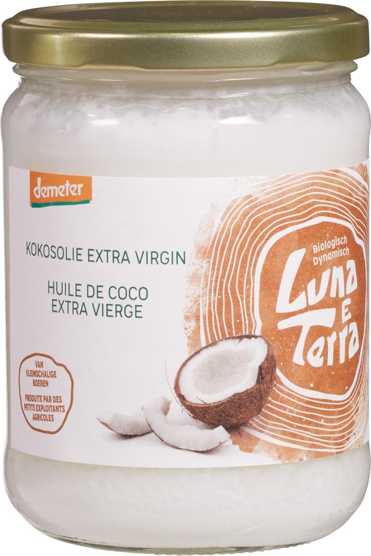 Biologische Luna e Terra Kokosolie extra vierge 400 gr