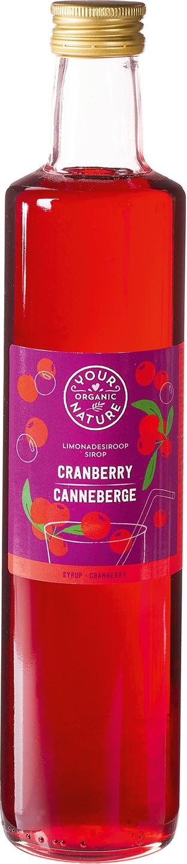 Biologische Your Organic Nature Cranberry siroop 500 ml