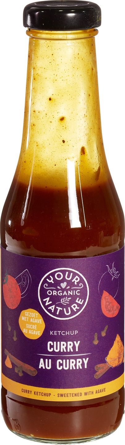 Biologische Your Organic Nature Curry ketchup 500 gr