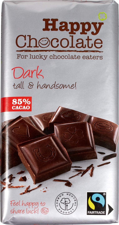 Biologische Happy Chocolate Pure chocolade 85% 180 gr