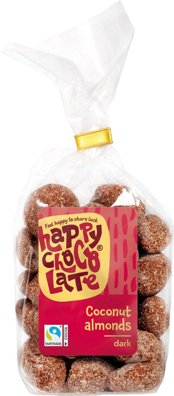 Biologische Happy Chocolate Pure chocolade amandelen 175 gr