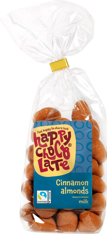 Biologische Happy Chocolate Chocolade amandelen melk met kaneel 175 gr