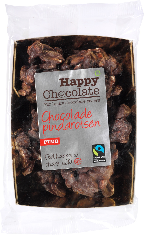 Biologische Happy Chocolate Pindarotsen pure chocolade 150 gr