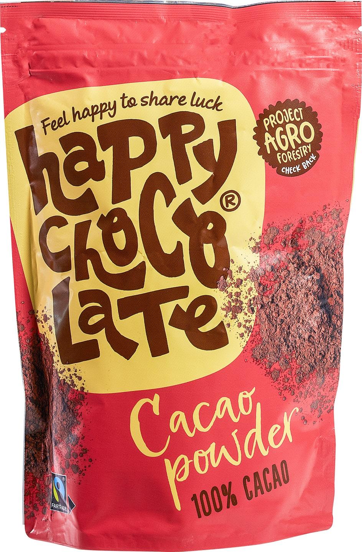 Biologische Happy Chocolate Cacaopoeder 250 gr