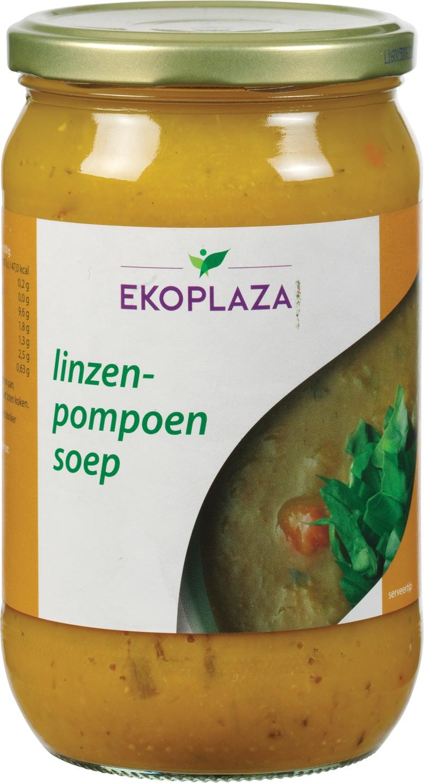 Biologische Ekoplaza Linzen-pompoensoep 720 ml