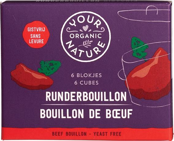 Biologische Your Organic Nature Runderbouillonblokjes gistvrij 66 gr