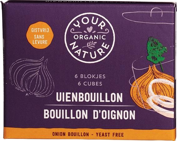 Biologische Your Organic Nature Uienbouillonblokjes gistvrij 66 gr