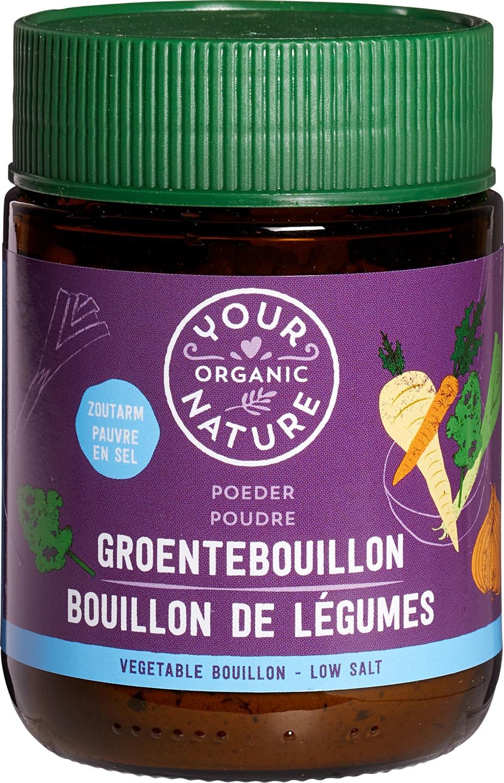 Biologische Your Organic Nature Groentebouillonpoeder zoutarm 100 gr