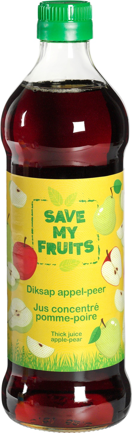 Biologische Save my fruits Diksap appel-peer 500 ml