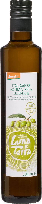 Biologische Luna e Terra Olijfolie extra vierge Italiaans 500 ml