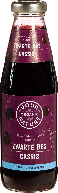 Biologische Your Organic Nature Zwarte bes siroop 500 ml