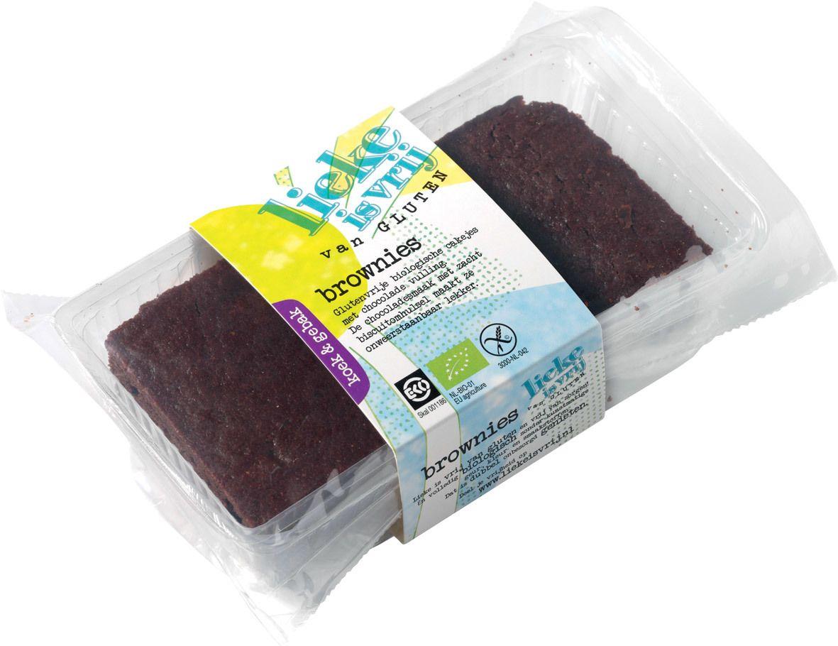 Biologische Lieke is vrij Brownies 150 gr