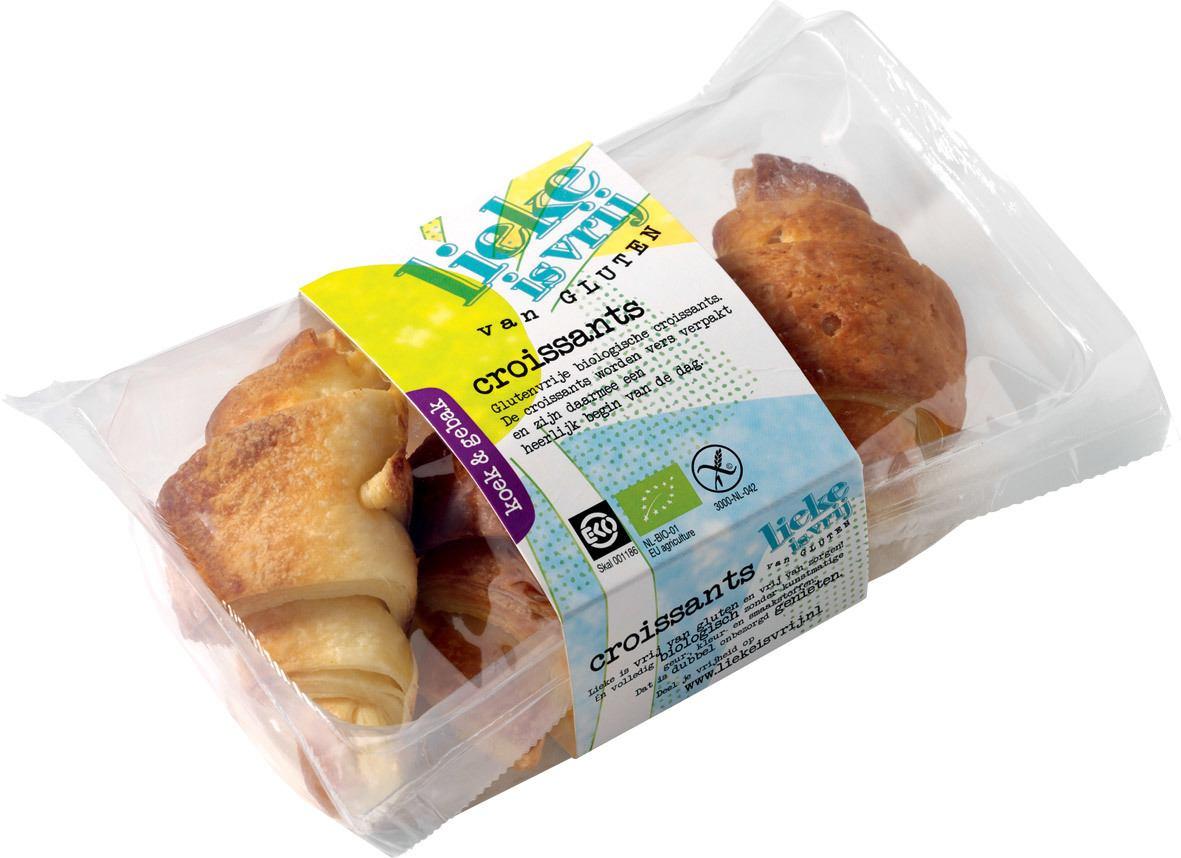 Biologische Lieke is vrij Croissants 170 gr
