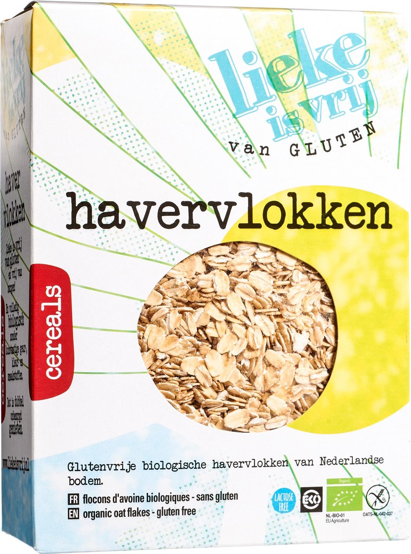 Biologische Lieke is vrij Havervlokken 450 gr