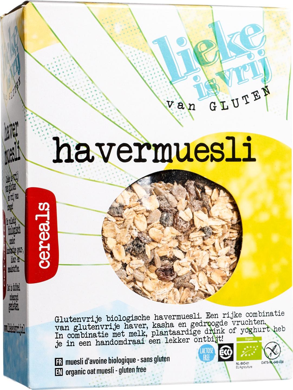 Biologische Lieke is vrij Havermuesli 450 gr