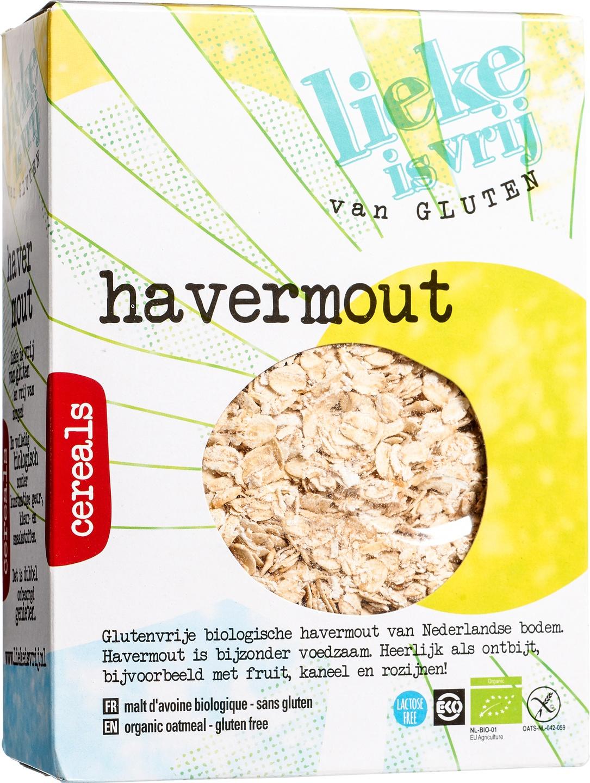 Biologische Lieke is vrij Havermout 450 gr