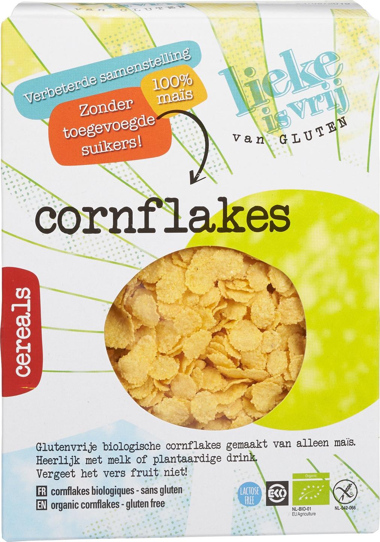 Biologische Lieke is vrij Cornflakes suikervrij 250 gr
