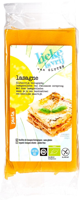 Biologische Lieke is vrij Lasagne 250 gr