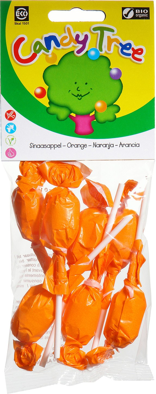 Biologische Candy Tree Sinaasappellollies 7 st