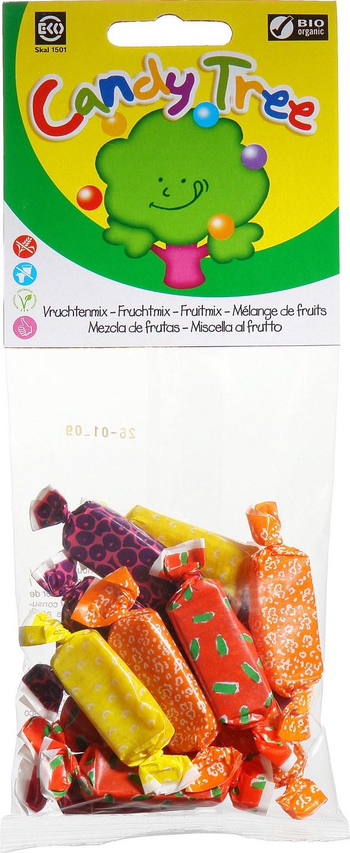 Biologische Candy Tree Vruchtentoffees mix 75 gr