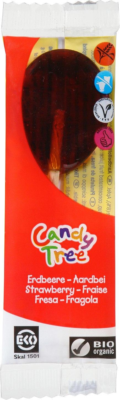 Biologische Candy Tree Aardbeilollies 1 st