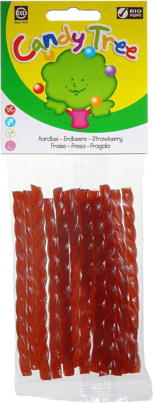 Biologische Candy Tree Aardbeikabels 75 gr