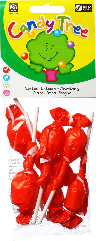 Biologische Candy Tree Aardbeilollies 7 st