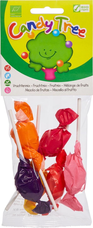 Biologische Candy Tree Lollies mix 40 gr