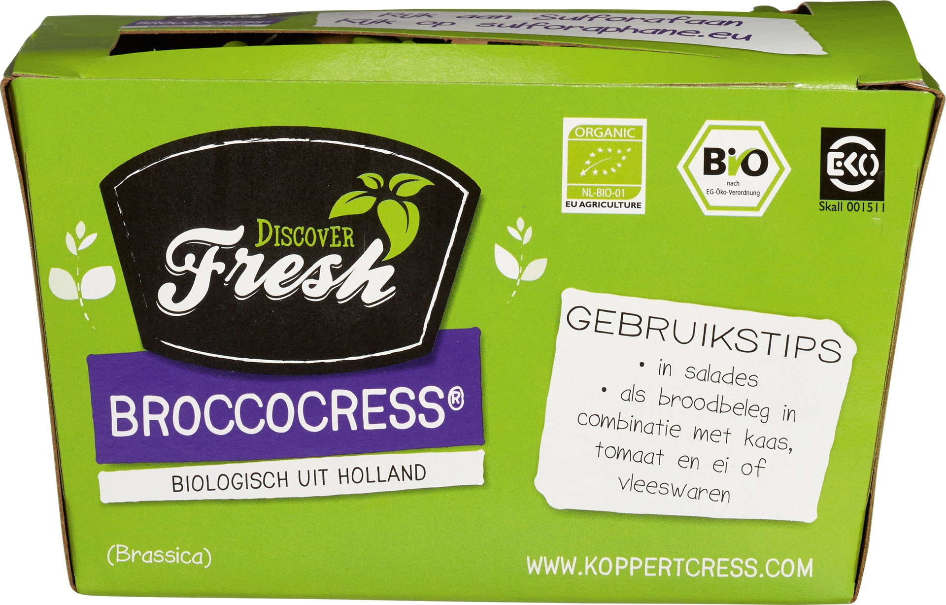 Biologische Discover Fresh BroccoCress (10) 130 gr
