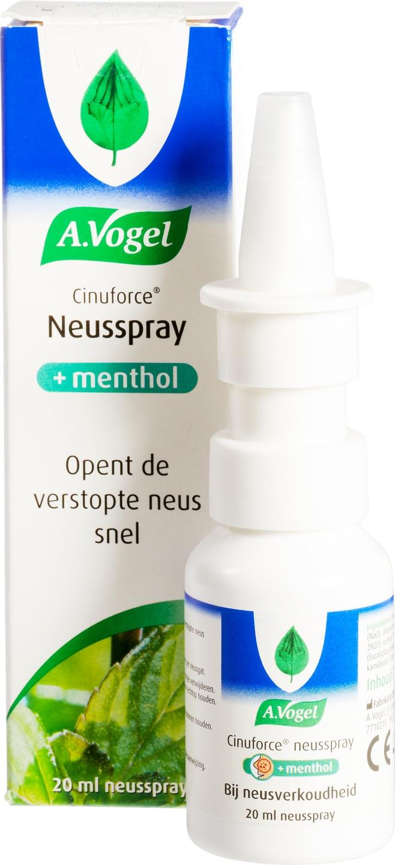 Biologische A. Vogel Cinuforce neusspray met menthol 20 ml