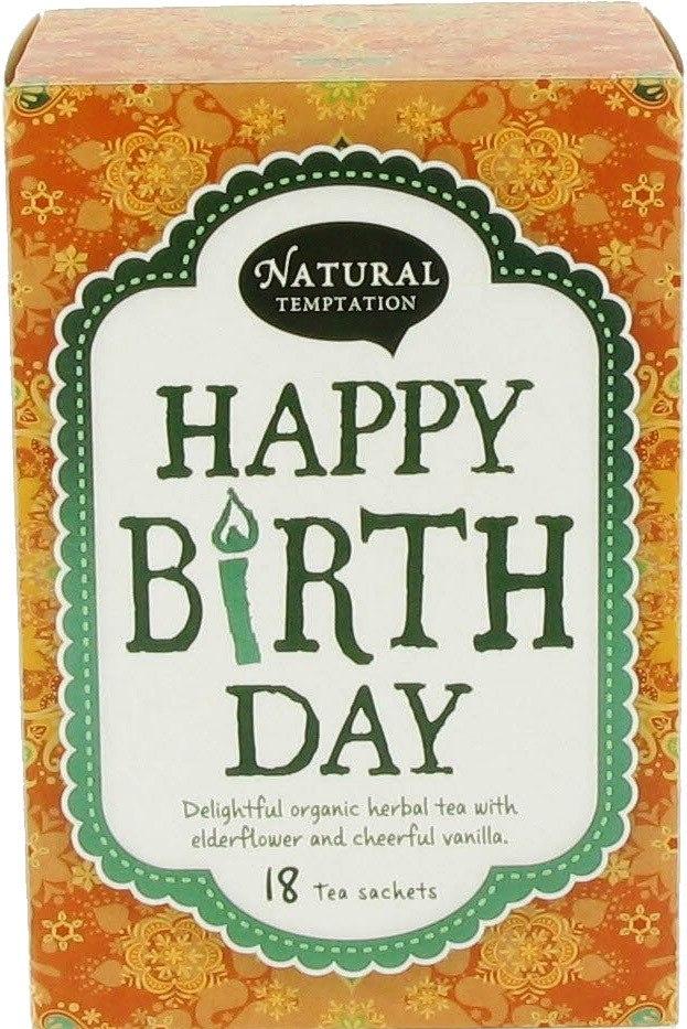 Biologische Natural Temptation Happy birthday kruidenthee 18 builtjes