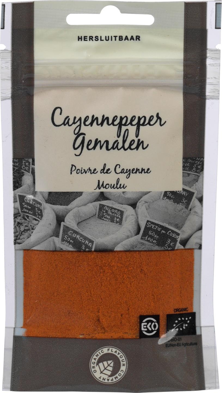 Biologische Organic Flavour Company Cayennepeper gemalen 25 gr
