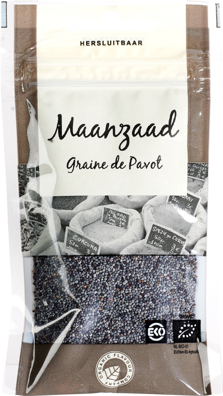Biologische Organic Flavour Company Maanzaad 38 gr