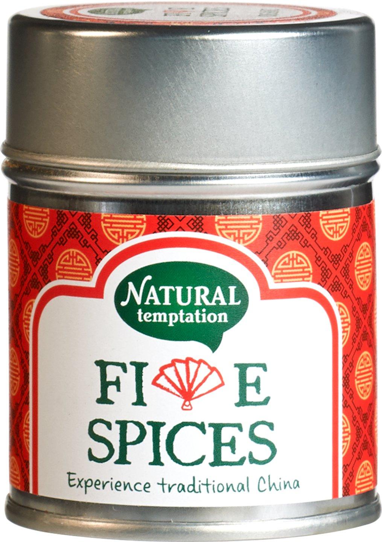 Biologische Natural Temptation Five spices kruidenmix 50 gr