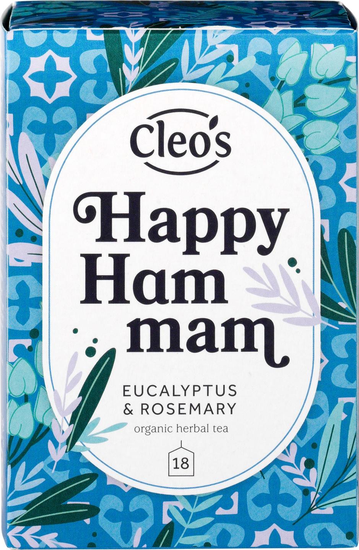 Biologische Cleo's Kruidenthee happy hammam 18 builtjes