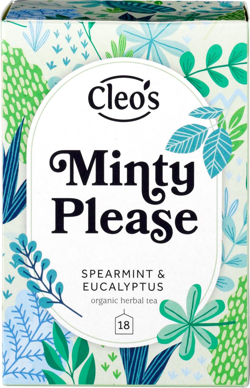 Biologische Cleo's Kruidenthee minty please 18 builtjes
