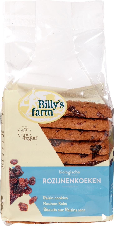 Biologische Billy's Farm Rozijnenkoek 230 gr