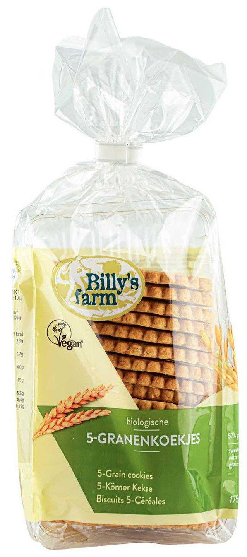 Biologische Billy's Farm 5-Granenkoekjes 175 gr