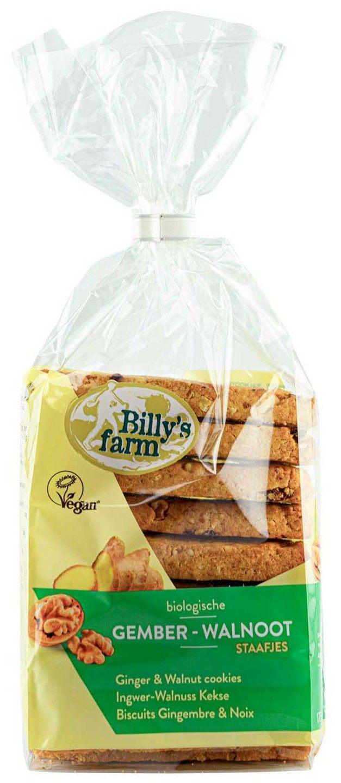 Biologische Billy's Farm Speltstaafjes gember-walnoot 175 gr